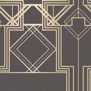 Warm grey and gold art deco