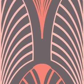 Art deco feather design