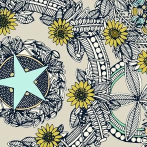 cirque fleur stone aqua star