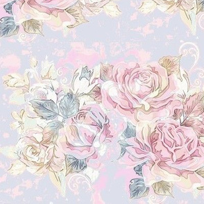 vintage watercolor roses 2 ~