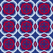 Red and Blue Abstract Kaleidoscope