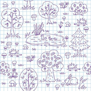 doodle forest