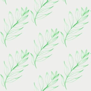 Breeze-Tossed Leafy Twigs on Alpine Mist