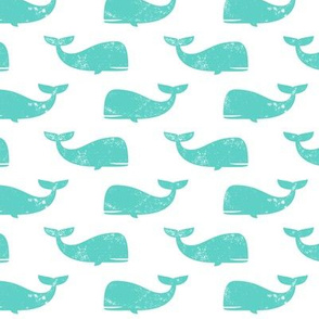 whales - teal