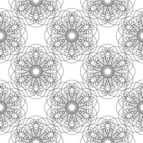 Linear floral Mandalas