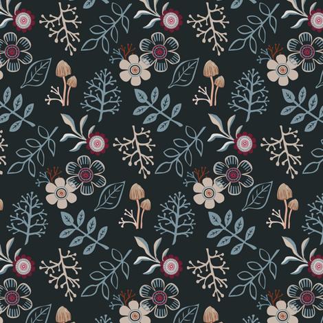 Autumn floral fabric by rachelmacdonald on Spoonflower - custom fabric