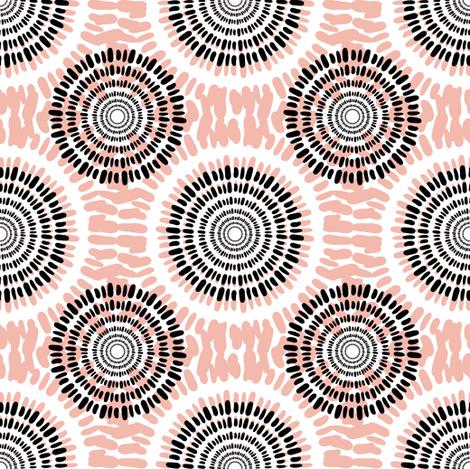 peachy circles fabric by worldion on Spoonflower - custom fabric