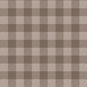 Textured Buffalo Plaid - light brown