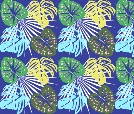 Tropical leaves2 fabric by lorloves_design on Spoonflower - custom fabric
