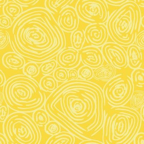 Nature Rings - Modern Abstract in Yellow