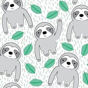 sloths-on-white