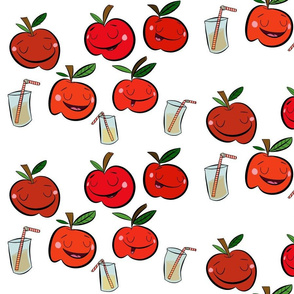 Apples and apple juice/ red