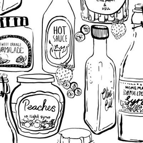 Color Me In - Jars and Bottles