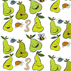 Pears and snails/ green