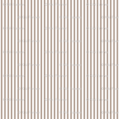 Mattress Ticking Narrow Striped Pattern in Chocolate Brown and White