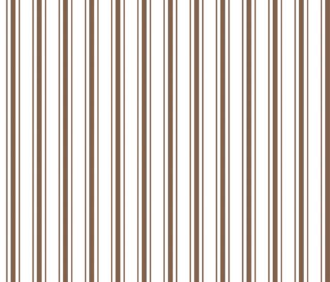 Mattress Ticking Narrow Striped Pattern in Chocolate Brown and White fabric by paper_and_frill on Spoonflower - custom fabric
