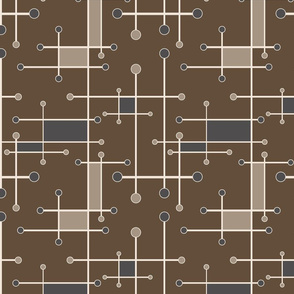 intersecting lines in brown, gray and tan