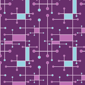 intersecting lines in purple pink blue