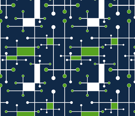 intersecting lines navy lime white fabric by mel_fischer on Spoonflower - custom fabric