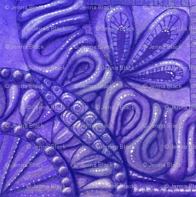 Quilt square monochrome purple
