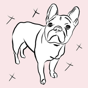 Frenchie on Blush- Large scale