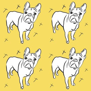 French Bulldog on Goldenrod Yellow