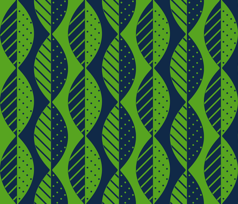 mod leaves navy lime fabric by mel_fischer on Spoonflower - custom fabric