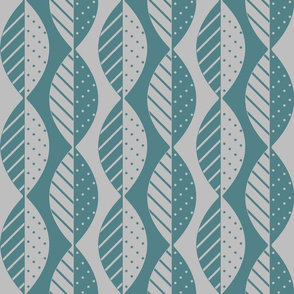 mod leaves in teal and gray