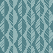 Mod Leaves in Teal and Seafoam
