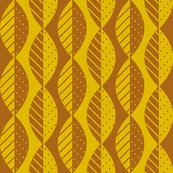 mod leaves terracotta mustard