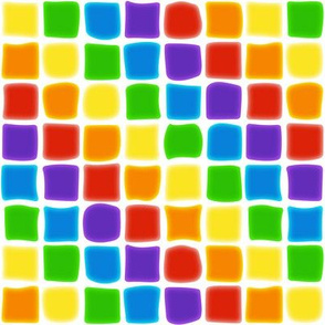 Diagonal Rainbow Mosaic on White