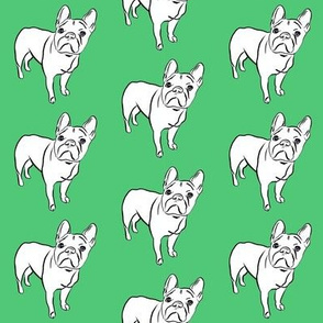 French Bulldog on Emerald - small scale