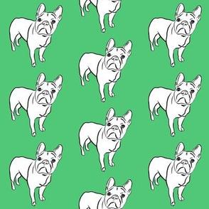 French Bulldog on Emerald - small scale