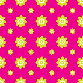 flower pattern pink green
