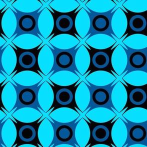 Retro Geometric blue