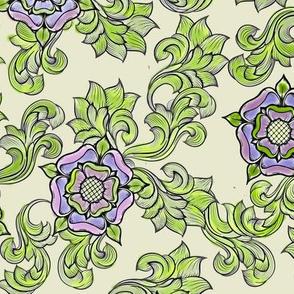 Tudor Rose Ecru