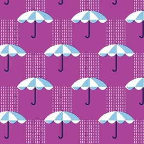 It's Raining Again* (Maxi Vesuvius) || umbrella umbrellas spring rain spring preppy Seattle purple violet