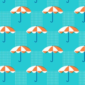 It's Raining Again* (Maxi Television Blue) || umbrella umbrellas spring rain spring preppy Seattle turquoise aqua