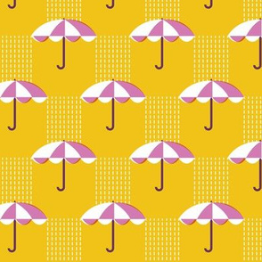 It's Raining Again* (Maxi Velvet Banana) || umbrella umbrellas spring rain spring preppy Seattle yellow gold