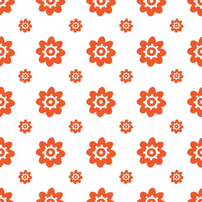 flower pattern orange-01