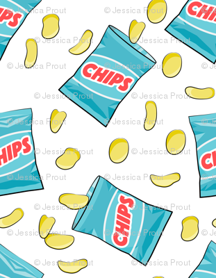 """1 1/2"""" scale-  bag of chips - blue C18BS"""