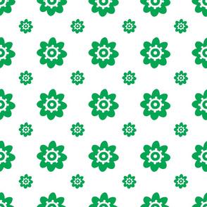flower pattern green-01