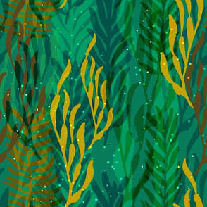 Underwater Forest {Turquoise}