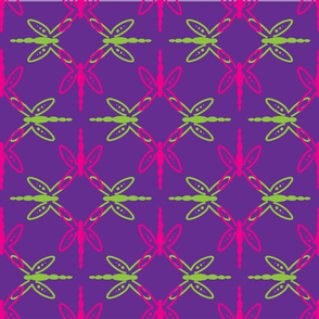 Dragonfly Mandala Pink, Green Purple