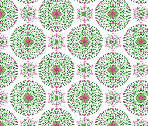 Floral Mandalas fabric by nikijin on Spoonflower - custom fabric