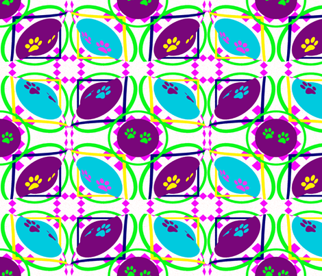 PawsOpArt by thecontecollection fabric by thecontecollection on Spoonflower - custom fabric