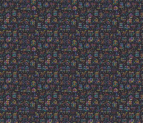 Birthday party fabric by krolja on Spoonflower - custom fabric