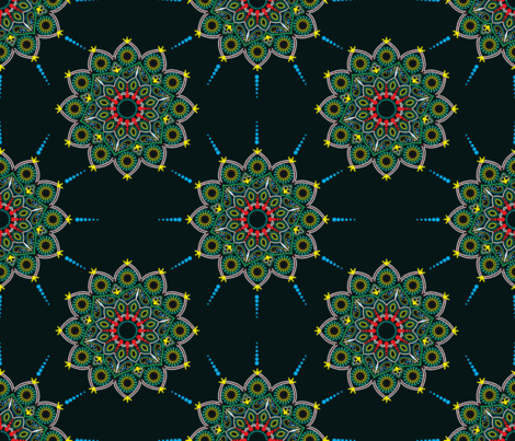 dotted mandala fabric by cleorie_designs on Spoonflower - custom fabric