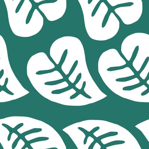 Retro Leaf pattern - Green