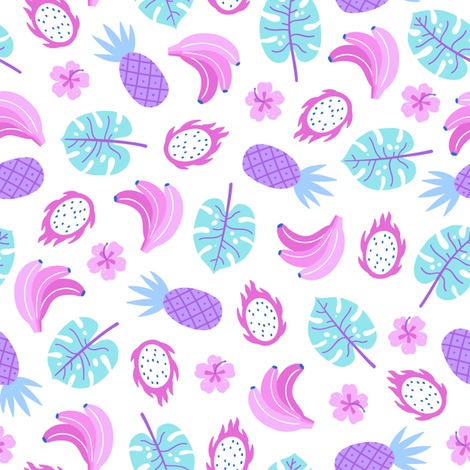 Tropical paradise fabric by kondratya on Spoonflower - custom fabric